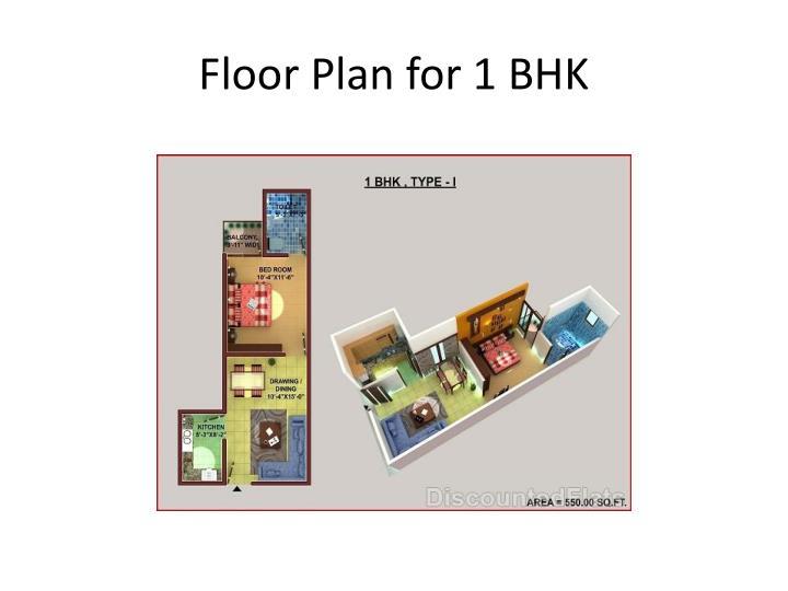 Floor Plan for 1 BHK
