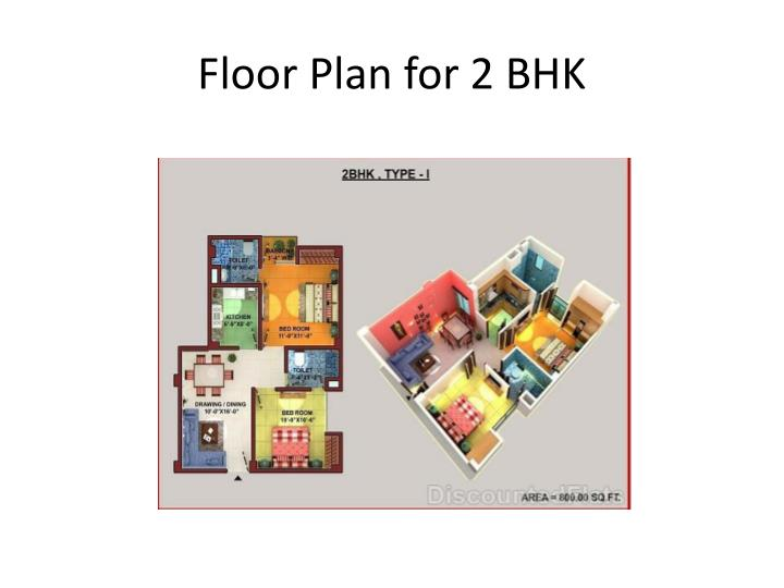 Floor Plan for 2 BHK