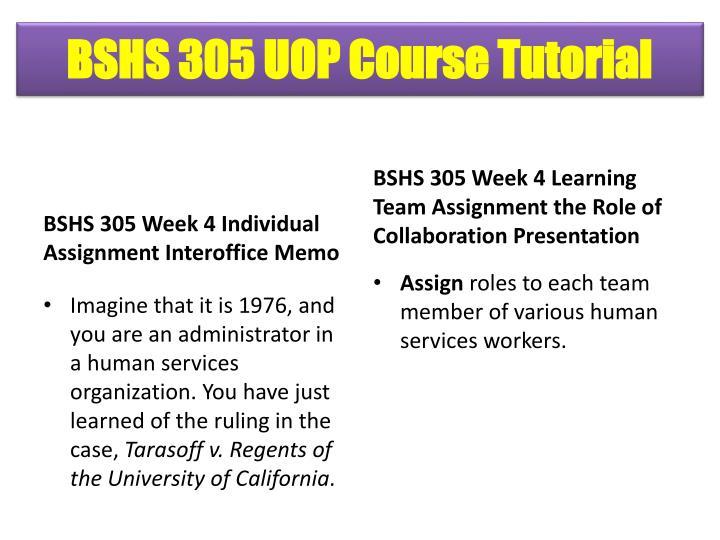 BSHS 305