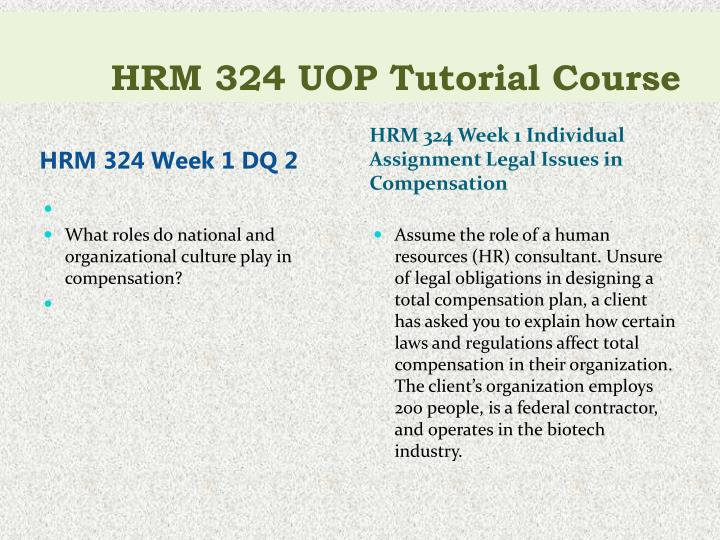 Hrm 324 uop tutorial course2