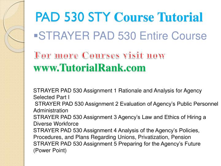 Pad 530 sty course tutorial1