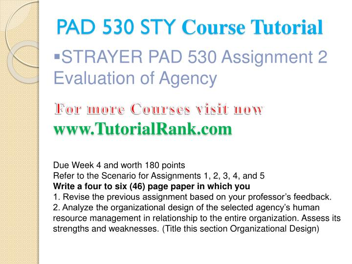Pad 530 sty course tutorial2