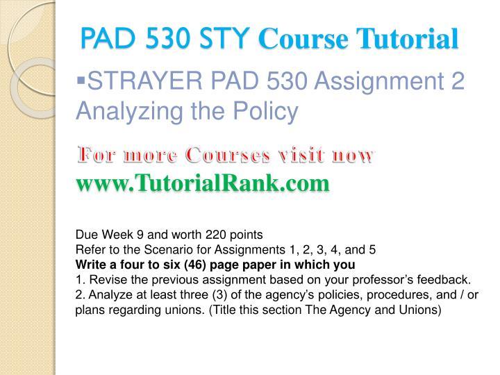 PAD 530 STY