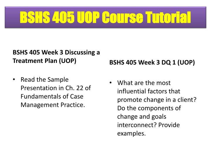 BSHS 405