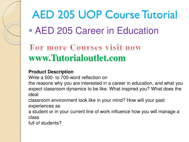 Aed 205 uop course tutorial1