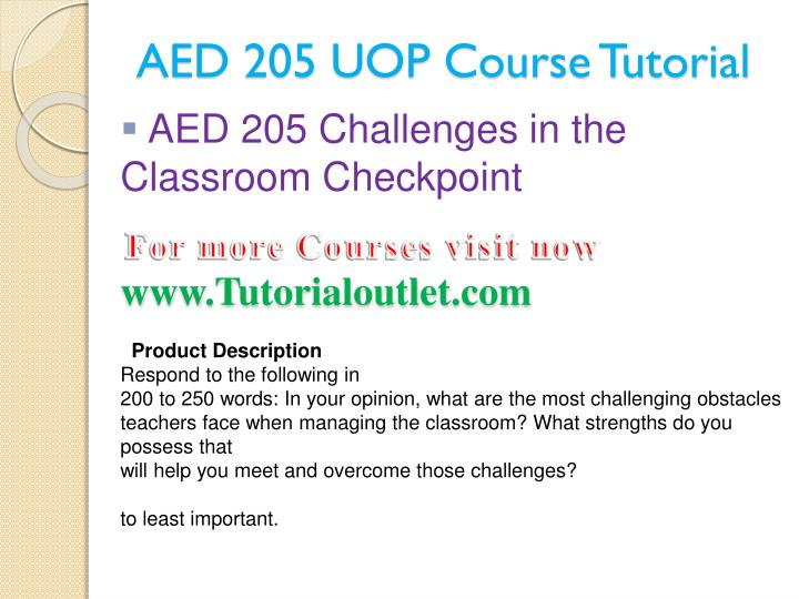 Aed 205 uop course tutorial2
