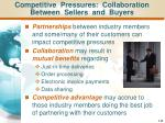 competitive pressures collaboration between sellers and buyers