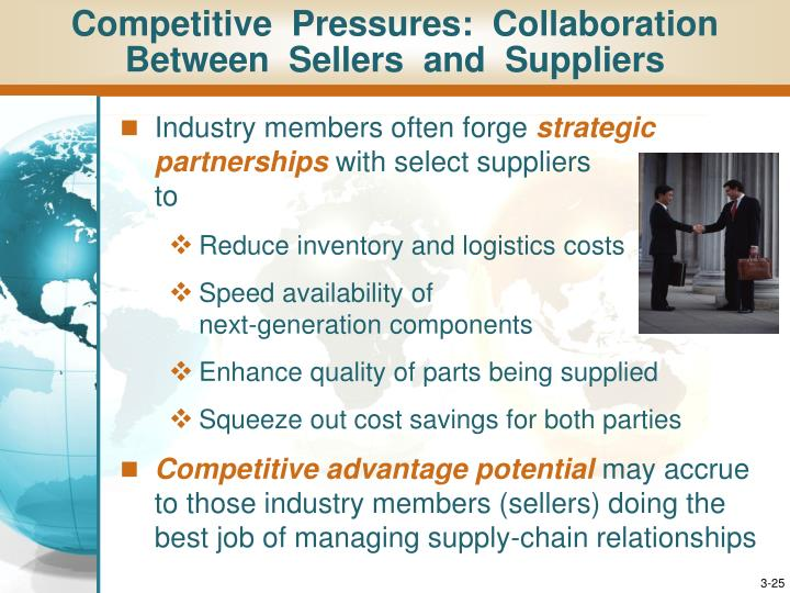 Competitive  Pressures:  Collaboration  Between  Sellers  and  Suppliers