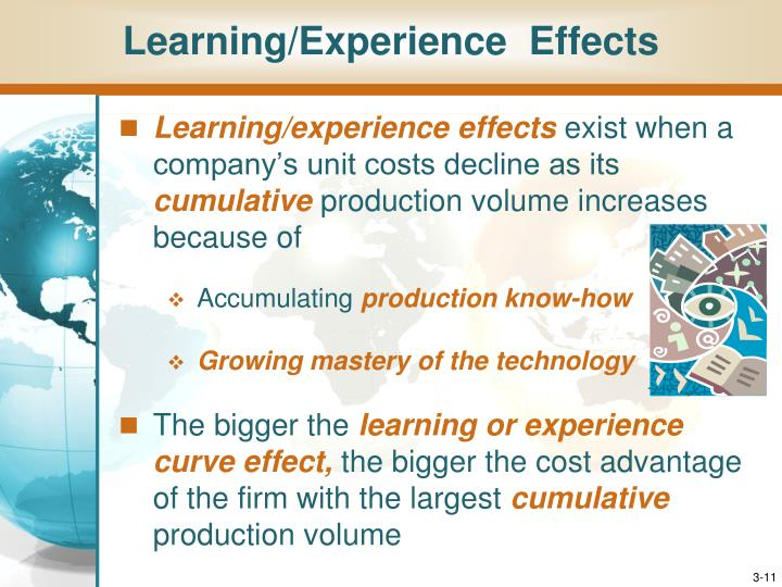 Learning/Experience  Effects