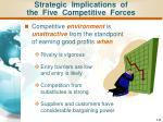 strategic implications of the five competitive forces