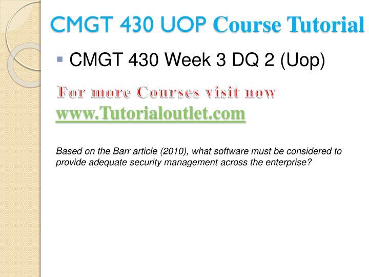 CMGT 430 UOP