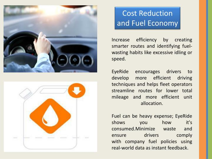 Cost Reduction and Fuel Economy