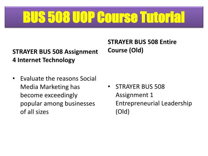 BUS 508