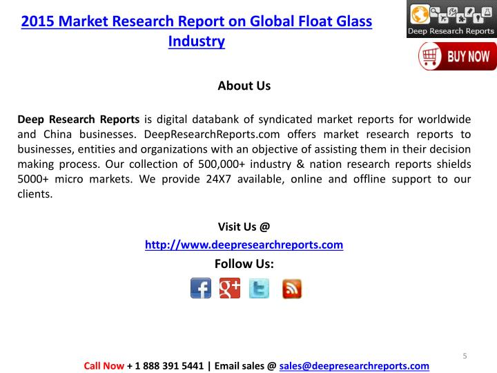 2015 Market Research Report on Global Float Glass Industry