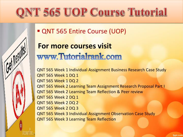 Qnt 565 uop course tutorial