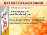 qnt 565 uop course tutorial11