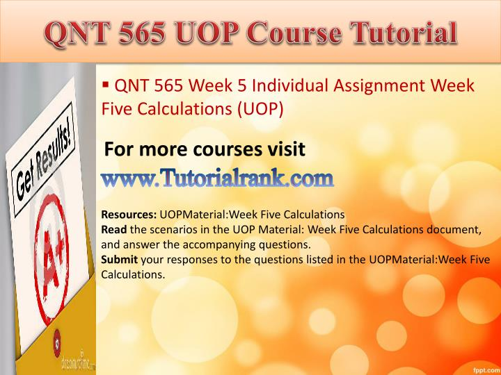 QNT 565 UOP
