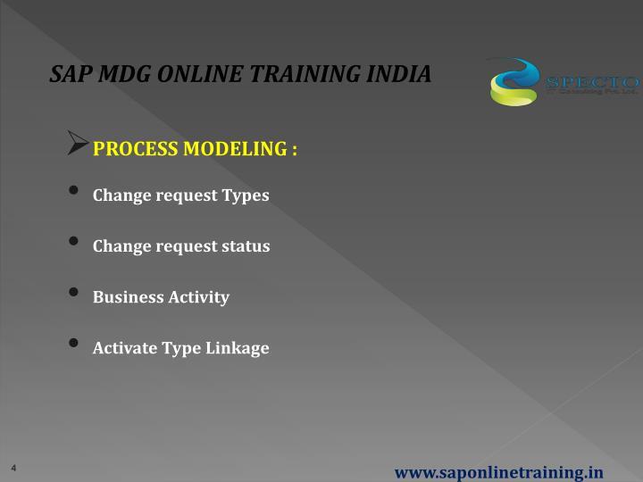 SAP MDG ONLINE TRAINING INDIA