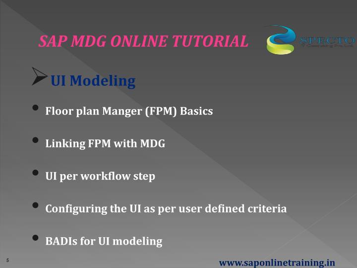 SAP MDG ONLINE TUTORIAL