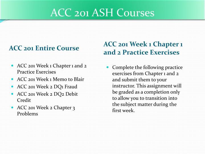 ACC 201 ASH