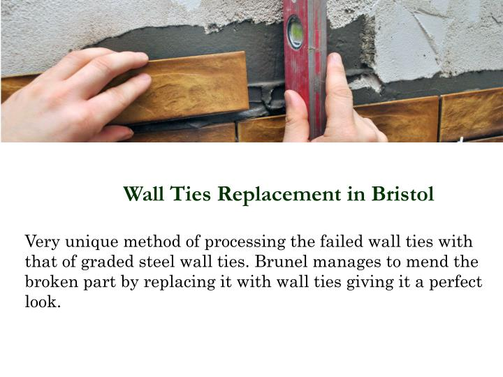 Wall Ties Replacement in Bristol