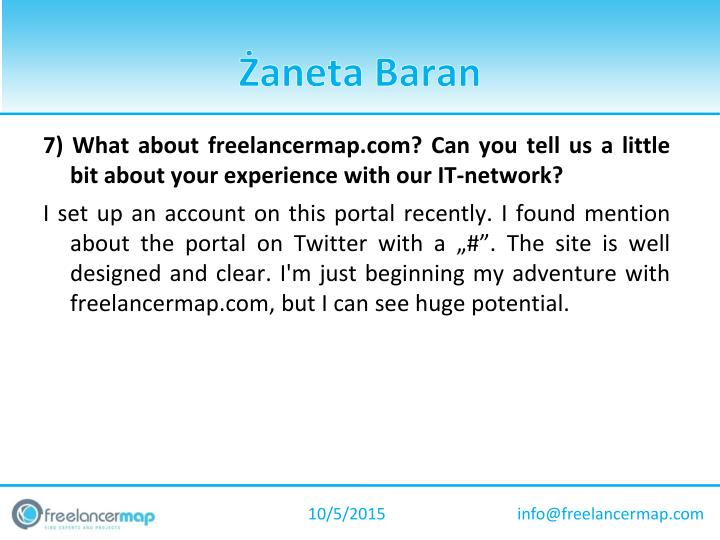 7) What about freelancermap.com? Can you tell us a little