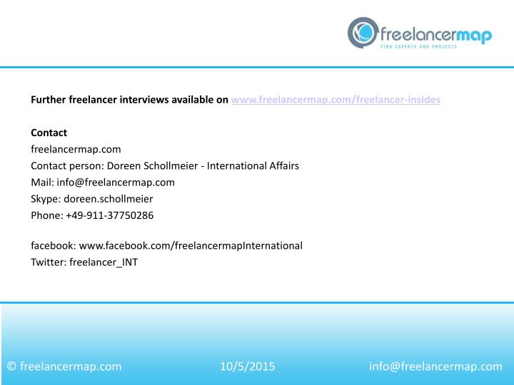 Further freelancer interviews available on www.freelancermap.com/freelancer-insides