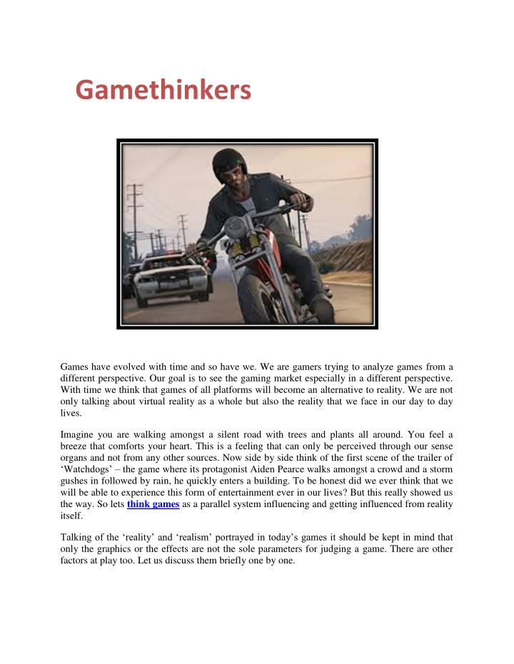 Gamethinkers