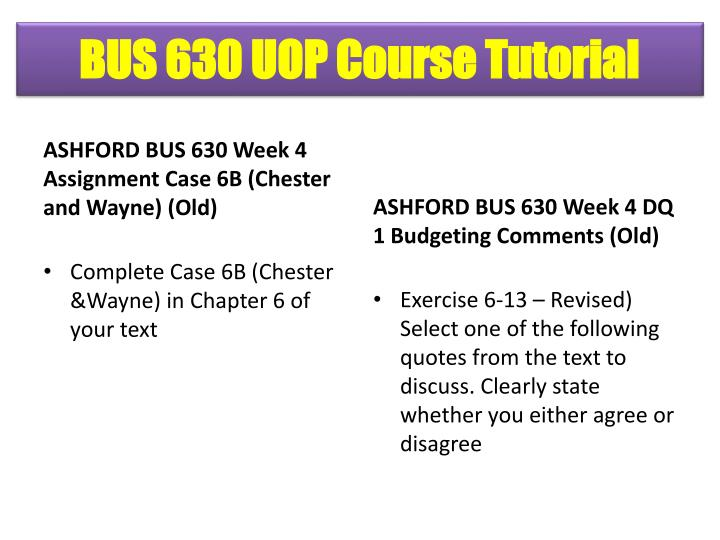 BUS 630 UOP