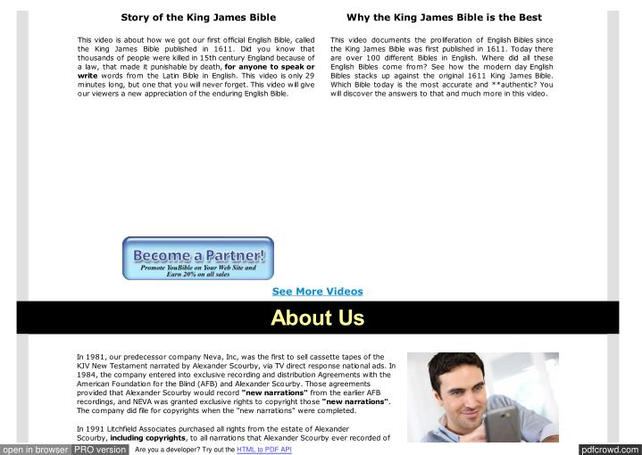 Story of the King James Bible