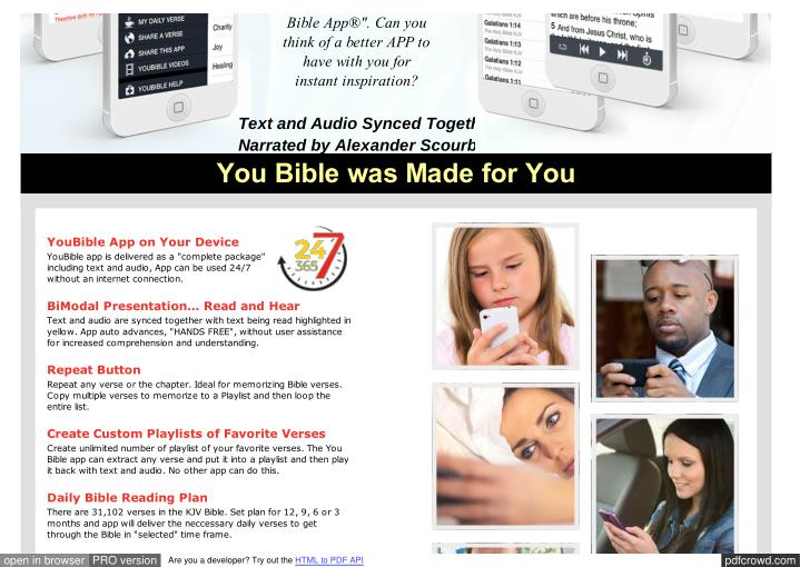 "Bible App®"". Can you"