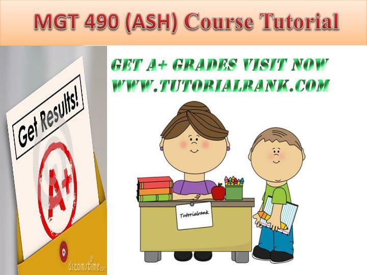 MGT 490 (ASH)