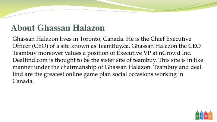 About ghassan halazon