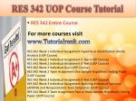 res 342 uop course tutorial