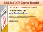 res 342 uop course tutorial1