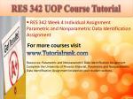 res 342 uop course tutorial10