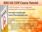 res 342 uop course tutorial12