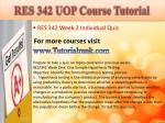 res 342 uop course tutorial4