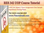 res 342 uop course tutorial5
