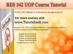 res 342 uop course tutorial7