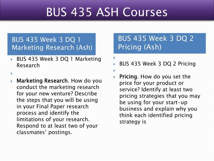 BUS 435 ASH Courses