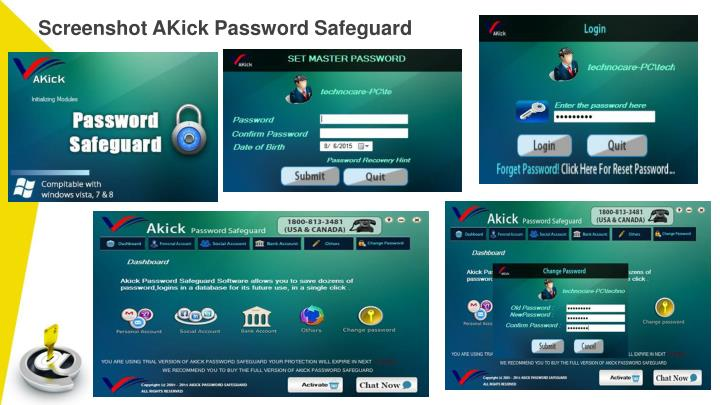 Screenshot AKick Password Safeguard