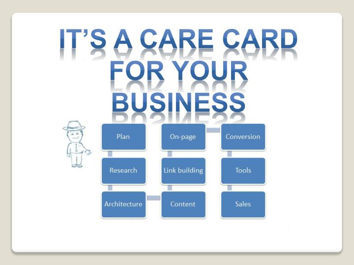 It's a care card for your Business