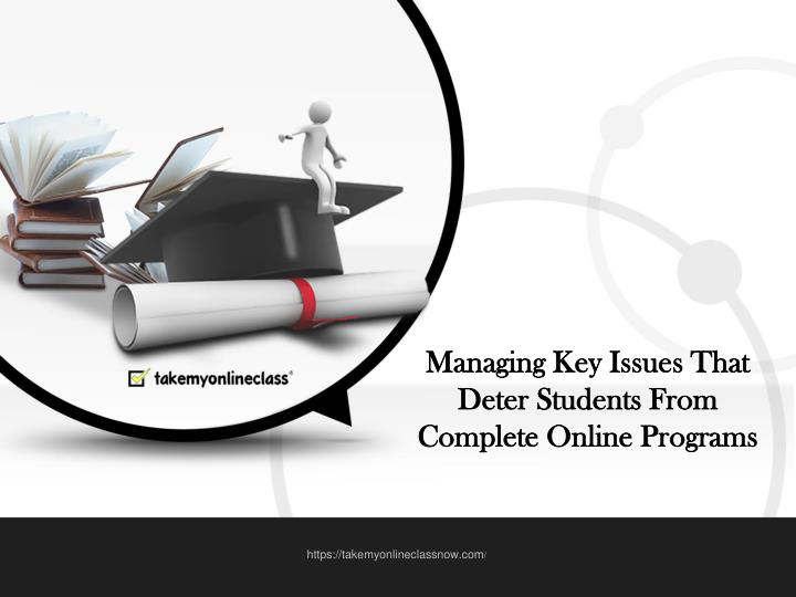 Managing Key Issues That