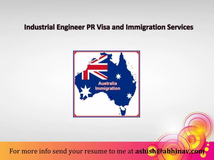 Industrial Engineer PR Visa and Immigration Services