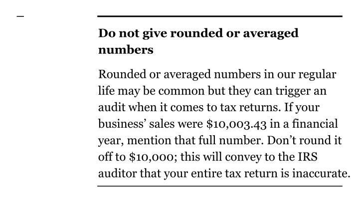 Do not give rounded or averaged numbers