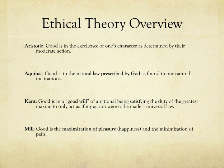 Ethical theory overview1