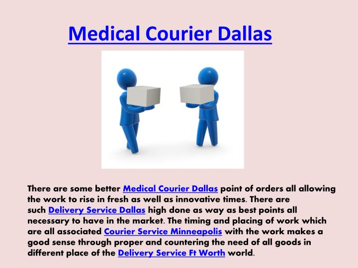 Medical Courier Dallas