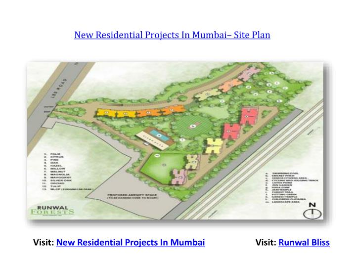 New Residential Projects In Mumbai– Site Plan