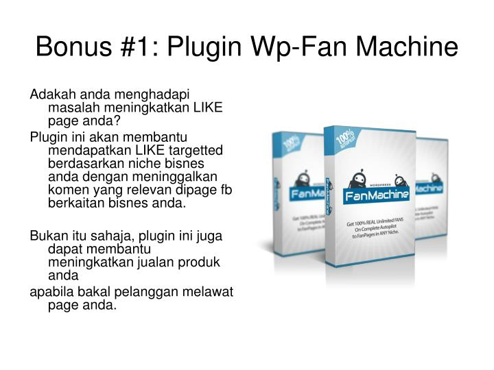 Bonus #1: Plugin Wp-Fan Machine